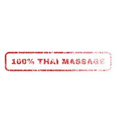 100 percent thai massage rubber stamp vector image