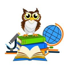 cheerful school owl vector image