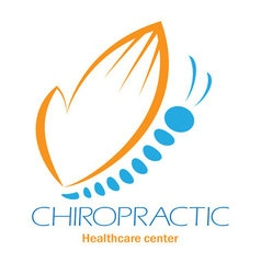 Chiropractic clinic logo with butterfly symbol of vector image