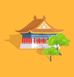confucius oldest temple in taiwan flat and shadow vector image vector image