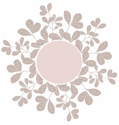 decoration circle template with floral elements vector image vector image