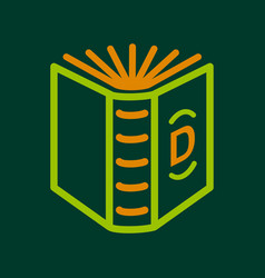 english book icon outline style vector image