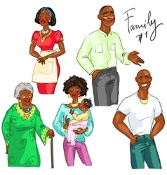 Family members isolated set 1 vector image vector image