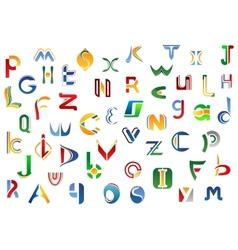 Full alphabet letters set vector image