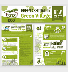 green eco nature company templates set vector image vector image