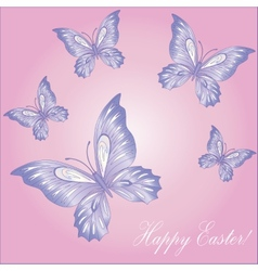 Lace butterfly cut out of paper vector image
