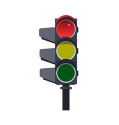 Red traffic light vector