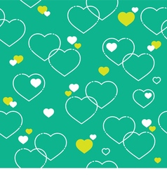 Seamless White Hearts Pattern vector image