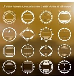 set of vignettes vector image