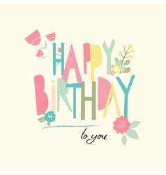 Birthday card with unusual letters vector image