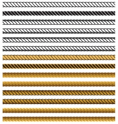 Chain rope seamless pattern vector image vector image