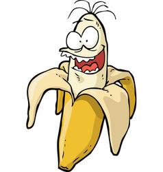 doodle crazy banana vector image vector image