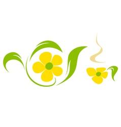 Flower tea vector image