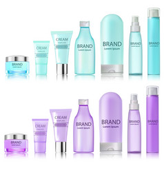 set of tubes bottles of bottles of spray for vector image vector image