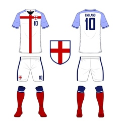 Soccer kit football jersey template for england vector