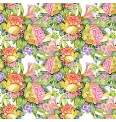 Beautiful Watercolor Summer Garden Blooming vector image vector image
