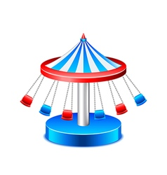 Chained carousel isolated on white vector image