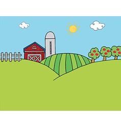 Country Farm vector image