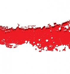grunge strip background red splat vector image