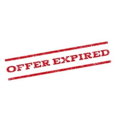 Offer expired watermark stamp vector