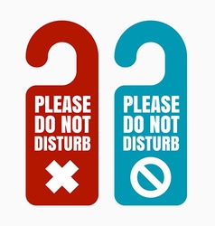 Please do not disturb vector image