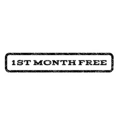 1st month free watermark stamp vector