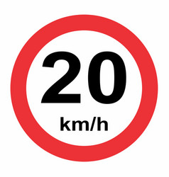 20 kmh speed limit vector