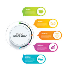 5 infographic design and marketing iconcan be vector