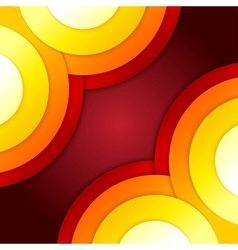 Abstract red and orange circles background vector image