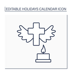 All saint day line icon vector