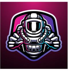 Astronaut esport mascot logo design vector