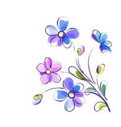 Background with bright violet flowers vector