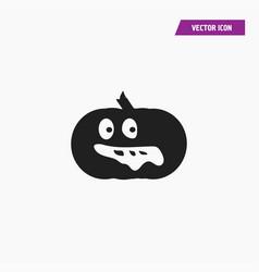 Black scary halloween pumpkin icon vector