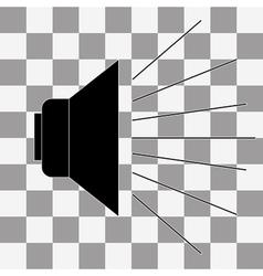 Black speak icon vector
