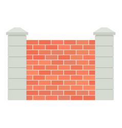 Brick fence icon cartoon style icon vector