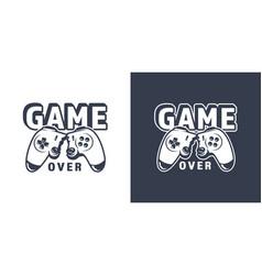 Broken video game joystick emblem vector