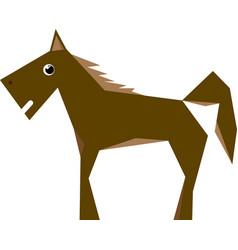 Brown horse flat design vector