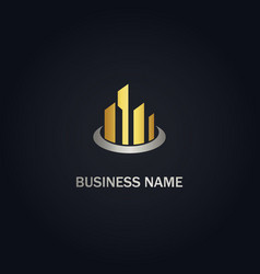 building abstract company gold logo vector image
