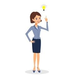Business woman idea creative thinking concept vector