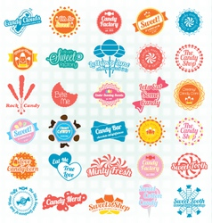 Candy and Sweets Labels and Stickers vector image