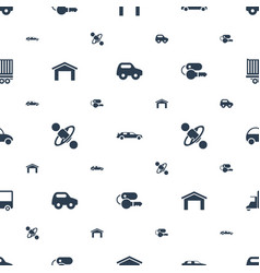 car icons pattern seamless white background vector image