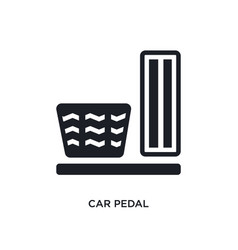 Car pedal isolated icon simple element from car vector
