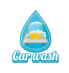 Car wash icons set isolated on white vector