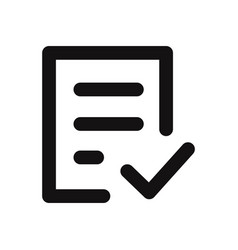 check form icon vector image