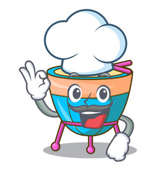 Chef cartoon timpani in the orchestra group vector