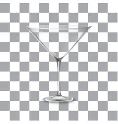 classic martini glass vector image