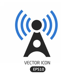 Connection wave icon vector