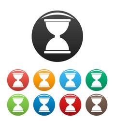 Cursor click loading icons set color vector