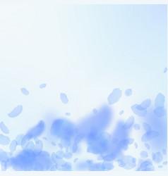 Dark blue flower petals falling down charming rom vector