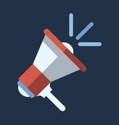 digital marketing megaphone for promotions vector image